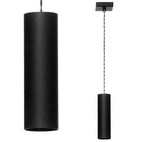 Lampa wisząca tuba nad stół ławę Żyrandol sufitowy Roller 1 czarny zwis wahadło sople