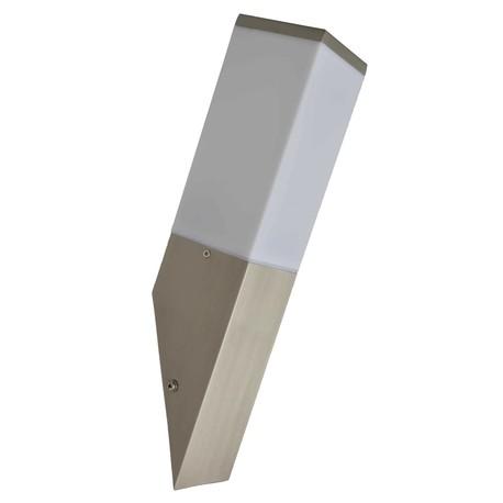 Lampa kinkiet zewnętrzna ogrodowa elewacyjna ARON inox stal nierdzewna