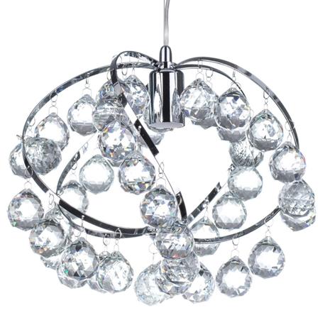 Żyrandol kryształowy Fiona 841 Lampa wisząca sufitowa chrom kryształki (1)