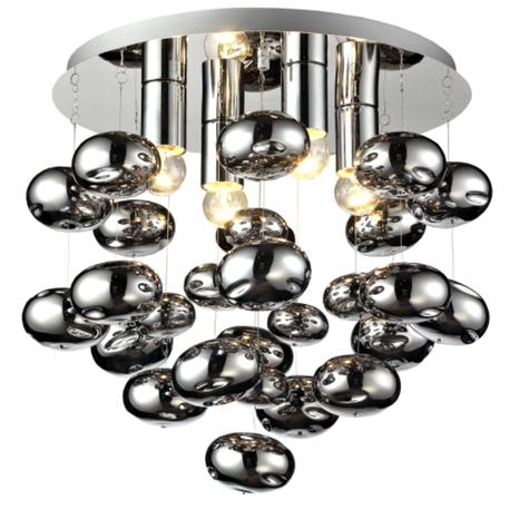 Lampa sufitowa wisząca Tivoli 4 Nowoczesny Żyrandol Plafon chrom bombki rain kulki (1)