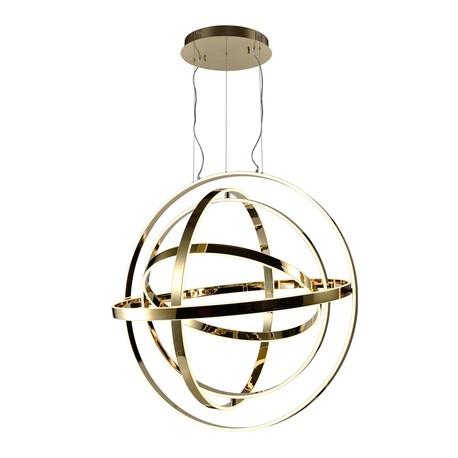 Lampa wisząca COPERNICUS Gold 180W LED złota nowoczesna   (1)