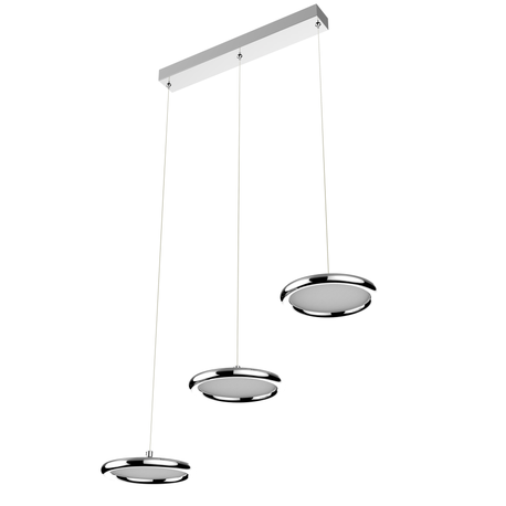 LAMPA LED wisząca sufitowa żyrandol zwis RING FERRO 24W okręgi pierścienie chrom (1)