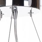 Lampa sufitowa wisząca Claire 3xE27 Żyrandol duży kryształki tkanina chrom (3)