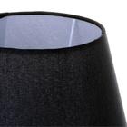 Lampa stołowa Cleto-B Lampka nocna dotykowa czarna chrom abażur (4)