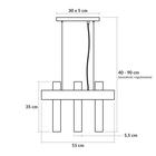 Lampa wisząca tuba zwis nad stół bar WEST 3 czarny żyrandol drewno metal (5)