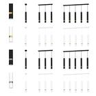 Spot Lampa sufitowa ścienna JOKER 3 czarna złota Żyrandol tuba ruchome reflektorki (5)