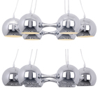 Lampa sufitowa wisząca Reina 6xE27 Żyrandol kule chrom atom (7)