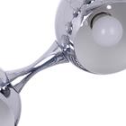 Lampa sufitowa wisząca Reina 6xE27 Żyrandol kule chrom atom (3)