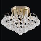 Żyrandol Plafon Lampa sufitowa MONACO 6773/4 21QG kryształowa MOSIĄDZ