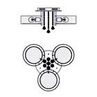 Żyrandol LED Lampa sufitowa wisząca ANTILA 3 + pilot chrom biały kryształ (6)