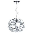 Żyrandol kryształowy Fiona 841 Lampa wisząca sufitowa chrom kryształki (2)