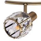 Spot lampa sufitowa ścienna Venus KR374-3L kryształ patyna ruchome przeguby