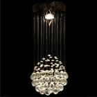 Lampa wisząca sufitowa kryształowa Żyrandol Brasilia kryształ chrom rain krople 1xGU10 (7)