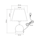 Lampa stołowa Cleto-B Lampka nocna dotykowa czarna chrom abażur (7)