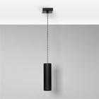 Lampa sufitowa wisząca zwis nad stół bar TUBA 1 czarna żyrandol