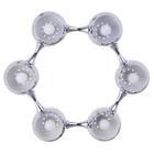 Lampa sufitowa wisząca Reina 6xE27 Żyrandol kule chrom atom (6)