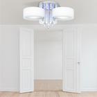 Żyrandol LED Lampa sufitowa wisząca ANTILA 3 + pilot chrom biały kryształ (5)