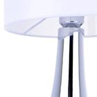 Lampa stołowa Vicky Lampka nocna dotykowa duża abażur tkanina chrom (3)