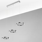 LAMPA LED wisząca sufitowa żyrandol zwis RING FERRO 24W okręgi pierścienie chrom (2)