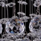 Lampa wisząca sufitowa kryształowa Żyrandol Brasilia kryształ chrom rain krople 1xGU10 (4)