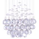Lampa wisząca sufitowa kryształowa Żyrandol Brasilia kryształ chrom rain krople 1xGU10 (8)