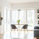 LAMPA LED wisząca sufitowa żyrandol zwis RING FERRO 8W okrąg pierścień chrom (5)