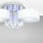 Żyrandol LED Lampa sufitowa wisząca ANTILA 3 + pilot chrom biały kryształ (3)