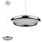 LAMPA LED wisząca sufitowa żyrandol zwis RING FERRO 8W okrąg pierścień chrom (1)