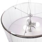 Lampa sufitowa wisząca Claire 3xE27 Żyrandol duży kryształki tkanina chrom (4)