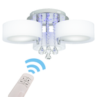 Żyrandol LED Lampa sufitowa wisząca ANTILA 3 + pilot chrom biały kryształ (1)