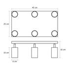Spot Lampa sufitowa ścienna tuba Roller 6P czarny plafon ruchome reflektorki (7)