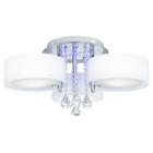 Żyrandol LED Lampa sufitowa wisząca ANTILA 3 + pilot chrom biały kryształ (2)