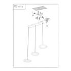 LAMPA LED wisząca sufitowa żyrandol zwis RING FERRO 24W okręgi pierścienie chrom (5)