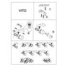 Spot Lampa sufitowa ścienna Vito-4 listwa tuba ruchome reflektorki (7)