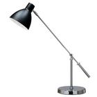 Lampa stołowa biurkowa Pablo biurowa duża regulowana czarna chrom (1)
