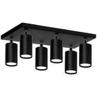 Spot Lampa sufitowa ścienna tuba Roller 6P czarny plafon ruchome reflektorki (3)