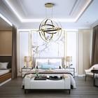 Lampa wisząca COPERNICUS Gold 180W LED złota nowoczesna   (2)