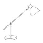 Lampa stołowa biurkowa Pablo biurowa duża regulowana czarna chrom (8)