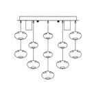 Lampa sufitowa wisząca Tivoli 4 Nowoczesny Żyrandol Plafon chrom bombki rain kulki (5)