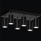Spot Lampa sufitowa ścienna tuba Roller 6P czarny plafon ruchome reflektorki (4)