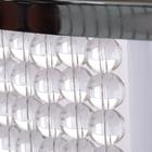 Lampa sufitowa wisząca Claire 3xE27 Żyrandol duży kryształki tkanina chrom (2)