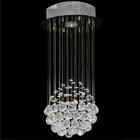 Lampa wisząca sufitowa kryształowa Żyrandol Brasilia kryształ chrom rain krople 1xGU10 (2)
