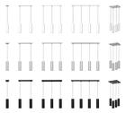 Lampa wisząca tuba nad stół ławę Żyrandol sufitowy Roller 6P czarny zwis wahadło sople (10)